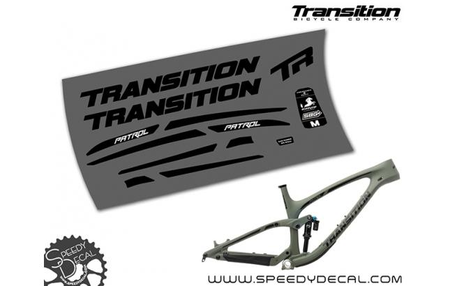 Transition Patrol carbon 2019 - kit adesivi telaio