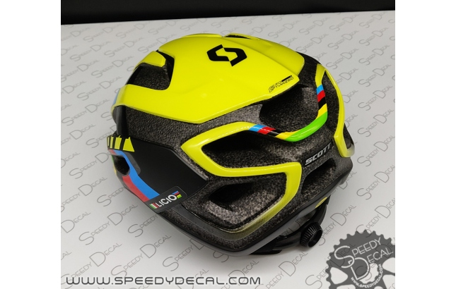 SCOTT Centric Plus replica Nino Shurter - kit adesivi casco