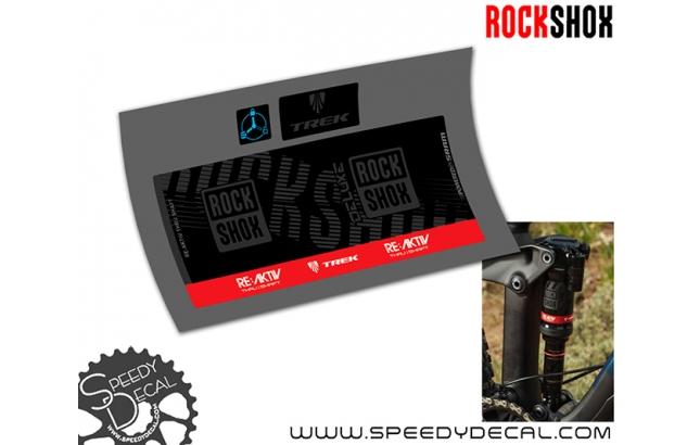 Rock Shox Deluxe RE:aktiv 2019 - adesivi per ammortizzatore posteriore