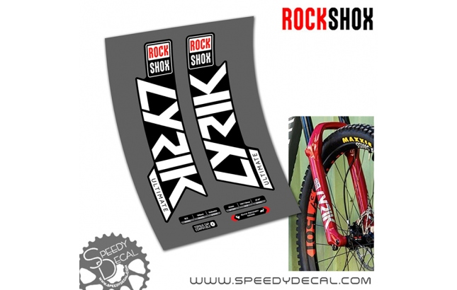 Rock shox Lyrik RC2 Ultimate anno 2020 - adesivi per forcella