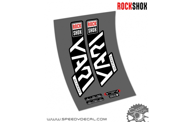 Rock shox Yari RC Ultimate anno 2020- adesivi per forcella