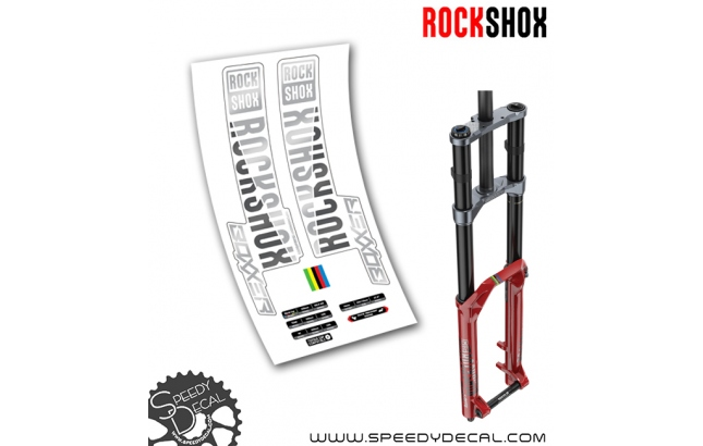 Rock Shox Boxxer World Cup DebonAir 2019 - adesivi per forcella