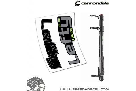 Cannondale Lefty Olaf PBR Fat 100 - adesivi per forcella