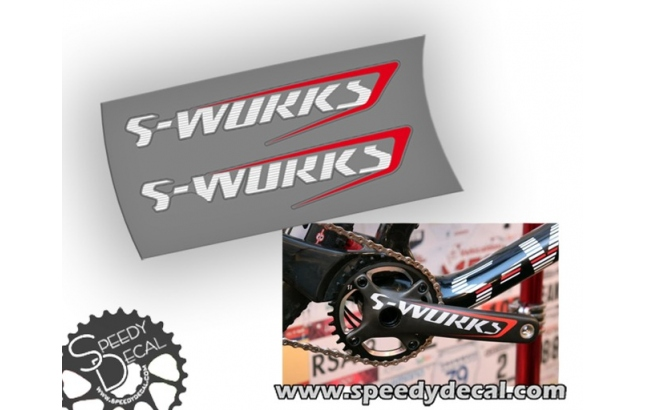 Specialized S-Works carbon fact 2015 - adesivi per pedivelle