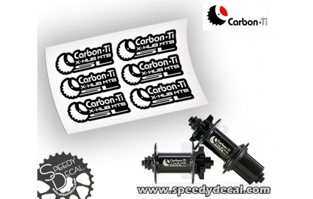 Carbon-Ti X-Hubs MTB SL - adesivi personalizzati per mozzi