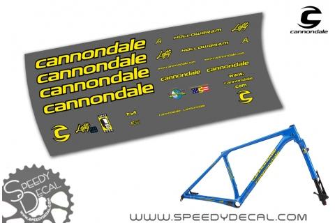 Cannondale F-SI Throwback 2019 - kit adesivi per telaio