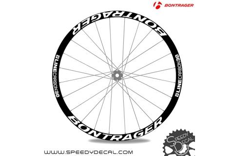 Bontrager Line Carbon 30 - adesivi per ruote