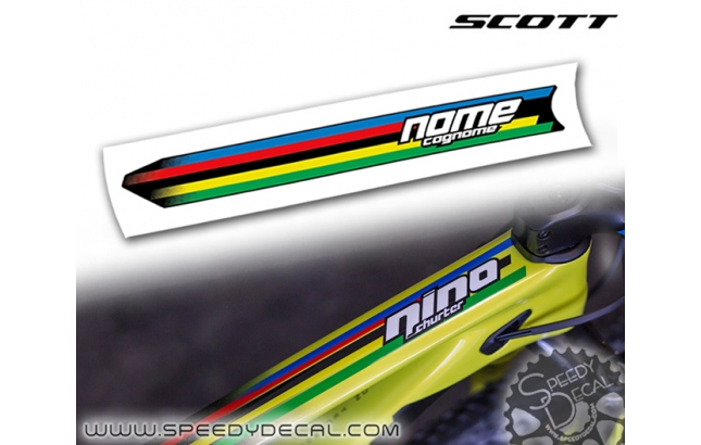 Adesivo con nome Nino Schurter World Champion - Scott Scale / Spark RC