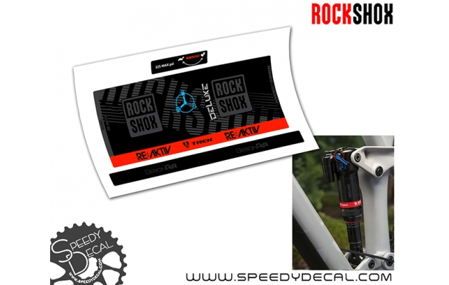 Rock Shox Deluxe RT3 RE:aktiv debonair 2019 - adesivi per ammortizzatore posteriore