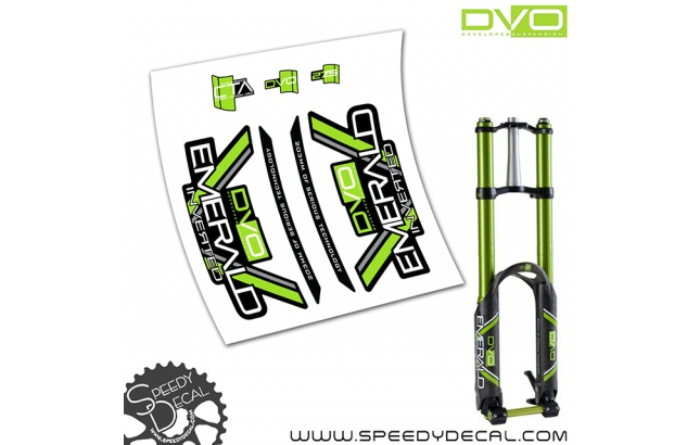 "DVO Emerald inverted 27.5"" - adesivi per forcella"