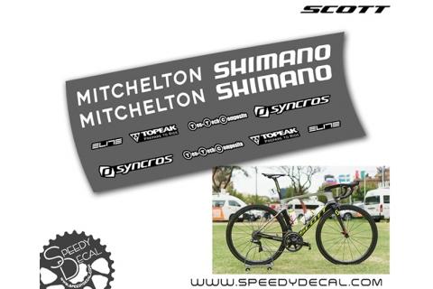 Team Mitchelton Scott - kit adesivi telaio