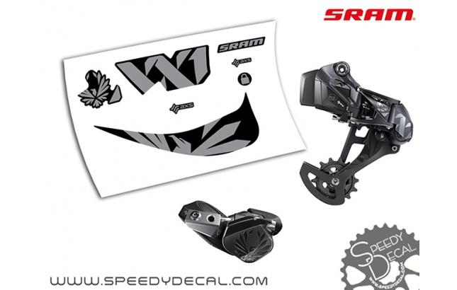 Sram XX1 Eagle Axs - adesivi per gruppo