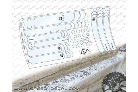 Kit adesivi protettivi personalizzati per telaio e forcella