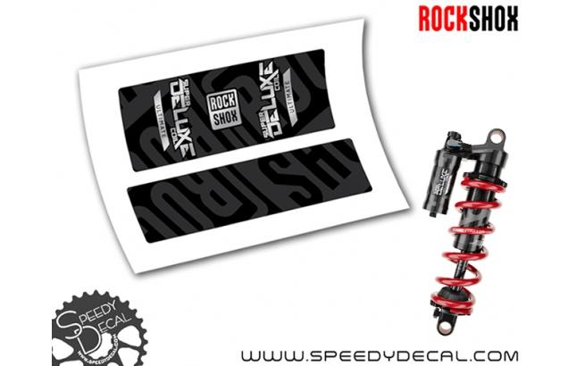 Rock Shox Super Deluxe Coil Ultimate 2020 - adesivi per ammortizzatore posteriore