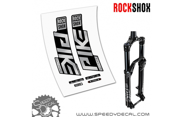 Rock shox Pike Ultimate anno 2020- adesivi per forcella