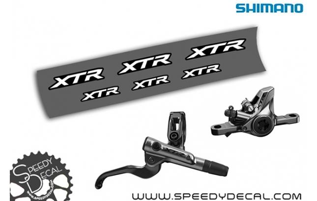 Shimano XTR 2019 - adesivi per freni