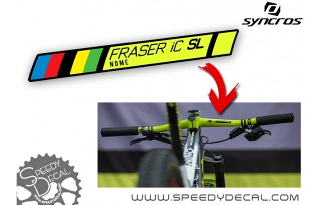 Adesivo con nome per manubrio Syncros Fraser IC SL