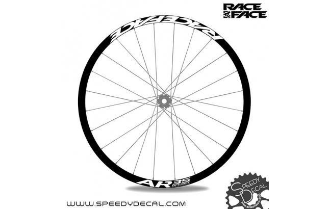 Race Face AR35 Offset - adesivi personalizzati per ruote