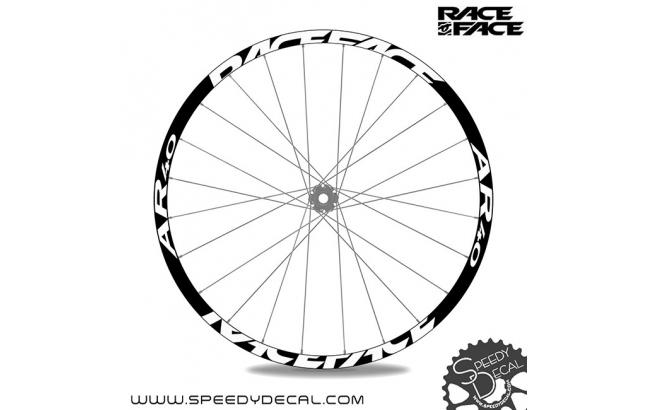Race Face AR 40 - adesivi personalizzati per ruote