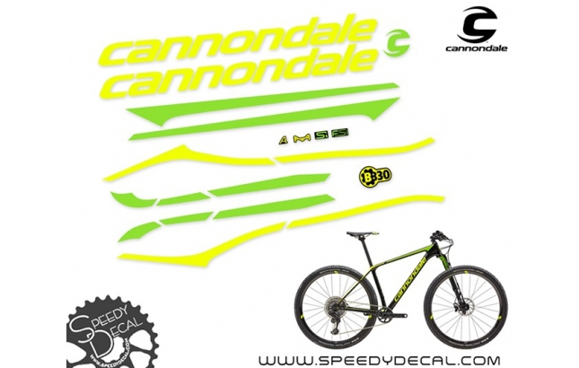 Cannondale F-SI 2019 - kit adesivi per telaio