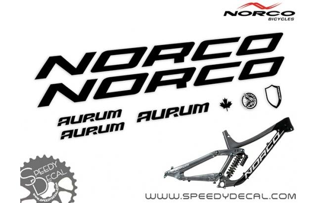 Norco Aurum 2018 - kit adesivi telaio