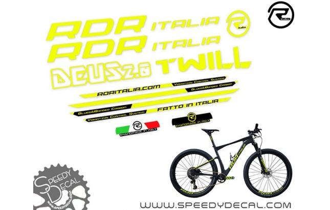 RDR Italia Deus 2.0 - kit adesivi telaio