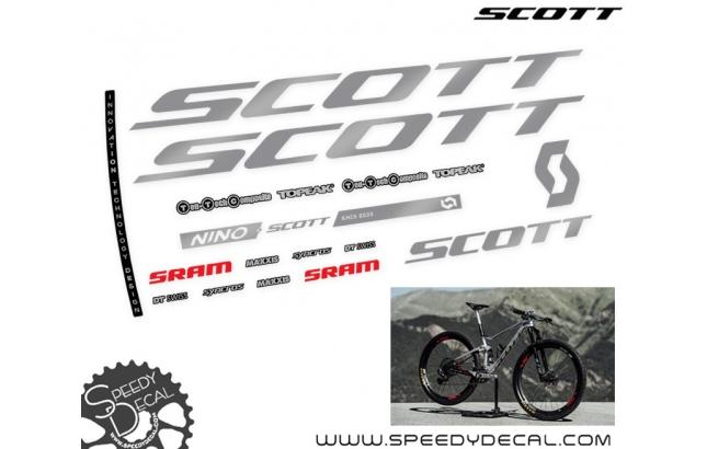 Scott Spark RC Nino Schurter Silverfish - kit adesivi telaio