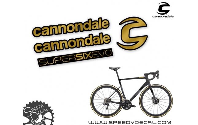 Cannondale Supersix Evo 2020 - kit adesivi per telaio