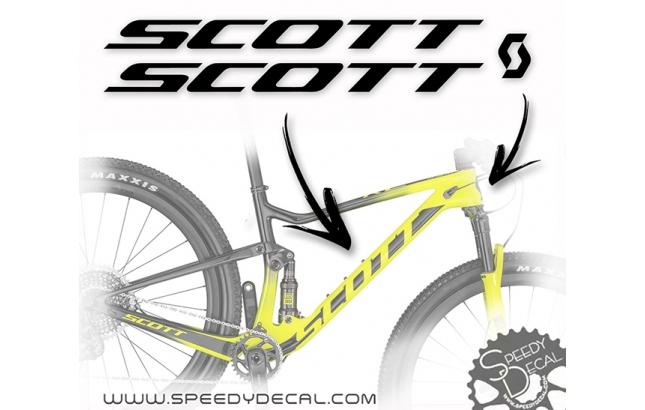 Scott - kit adesivi telaio