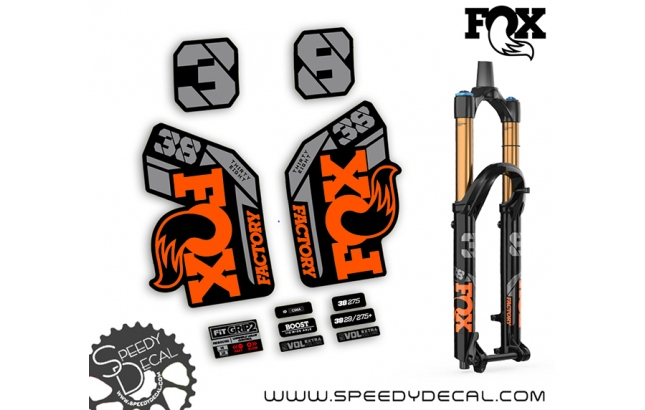 Fox 38 Thirty Eight Factory Series 2021 - adesivi per forcella