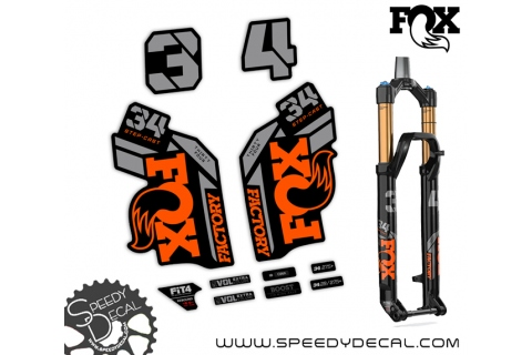 Fox 34 Factory Series Step Cast Thirty Four 2021 - adesivi per forcella