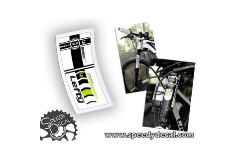 Cannondale Lefty XLR 90 mm Factory Racing 2012 - adesivi personalizzati per forcella