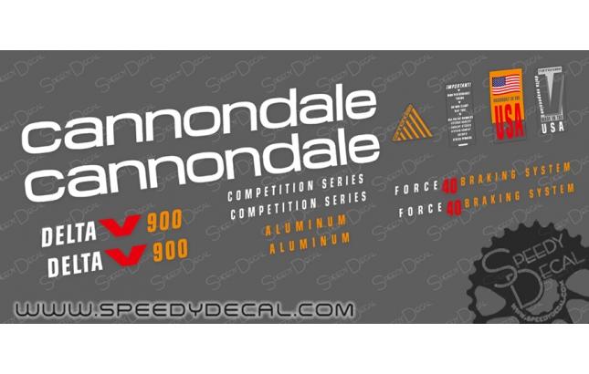 Cannondale Delta V 1992 - kit adesivi per telaio