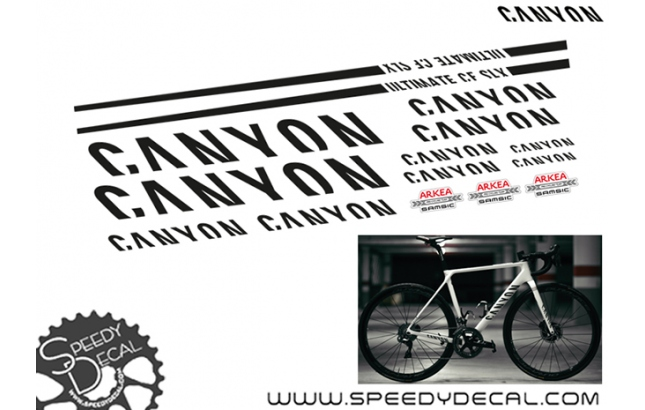 Canyon Arkea SAMSIC Pro racing Team - kit adesivi telaio