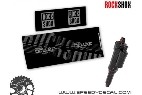 Rock Shox Super Deluxe Select - adesivi per ammortizzatore posteriore