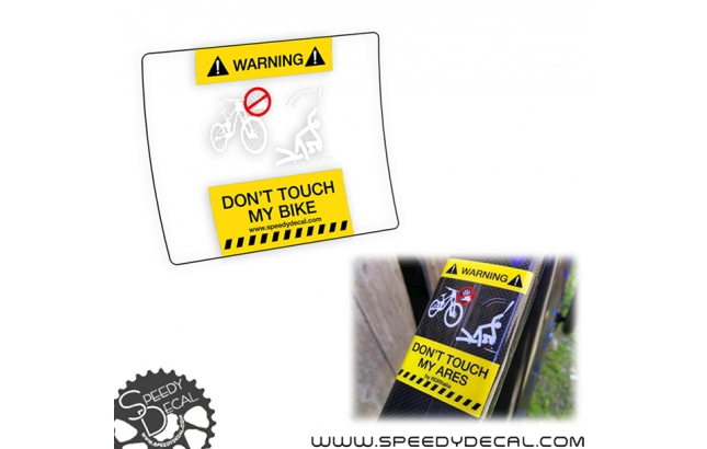 Don't Touch My Bike - adesivi protettivi top tube