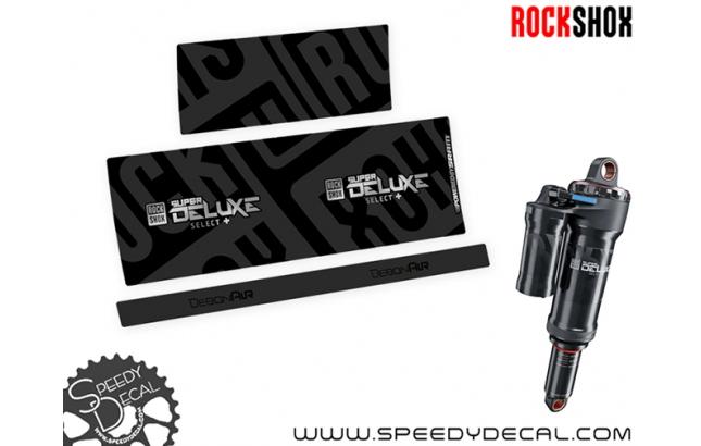 Rock Shox Super Deluxe Select+ 2020 - adesivi per ammortizzatore posteriore