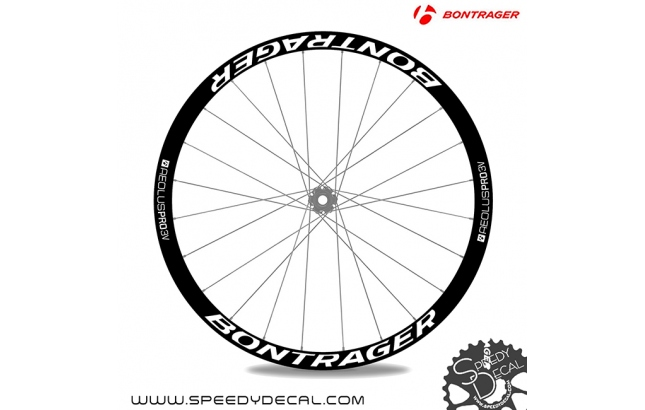 Bontrager Aeolus Pro 3v Disc - adesivi per ruote