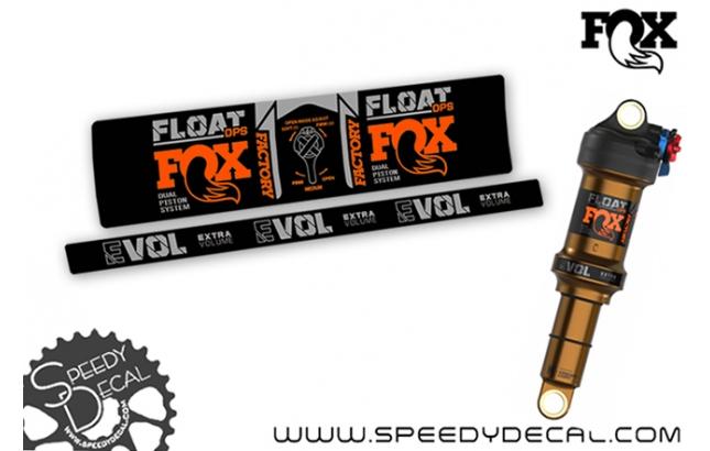 Fox Float Dps Factory Series 2021 - adesivi per ammortizzatore posteriore