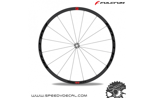 Fulcrum Rapide Red 5 - adesivi per ruote