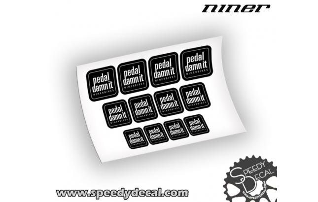 Ninerbikes Pedal Damn It - adesivi personalizzati