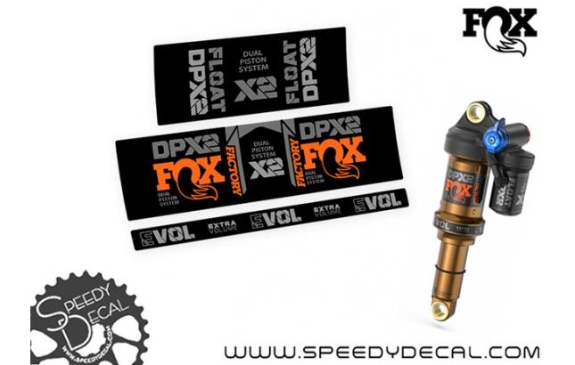 Fox Factory Racing DPX2 2021 - adesivi per ammortizzatore posteriore