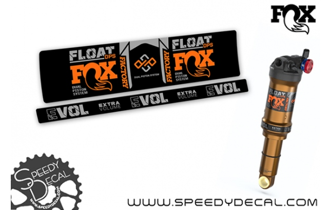 Fox Float Dps Factory Series 2021 dual position system - adesivi per ammortizzatore posteriore