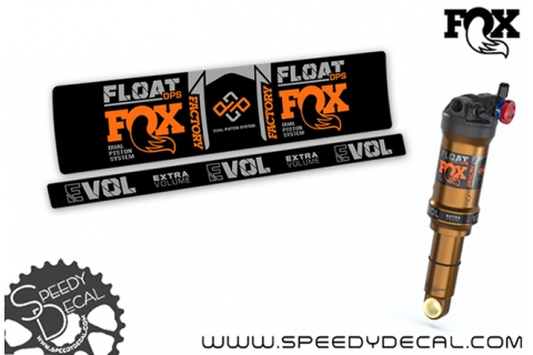 Fox Float Dps Factory Series 2021 dual position system - adesivi per ammortizzatore posteriore