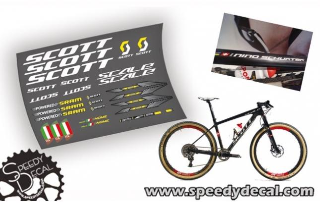 Scott Scale RC Nino Schurter Londra 2012 - kit adesivi telaio replica