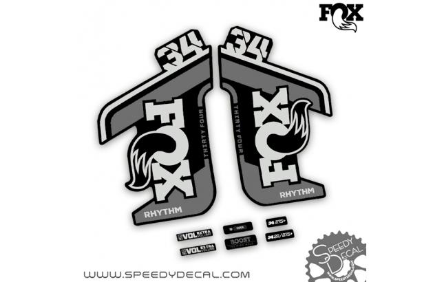 Fox 34 rhythm 2021 - adesivi per forcella