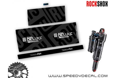 Rock Shox Super Deluxe Ultimate - adesivi per ammortizzatore posteriore