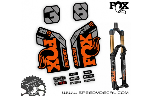 Fox 38 Thirty Six Factory Series Ebike 2021 - adesivi per forcella