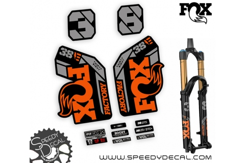 Fox 38 Thirty Six Factory Series Ebike 2021 - adesivi per forcella
