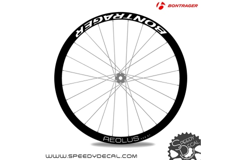 Bontrager Aeolus Pro 37- adesivi per ruote